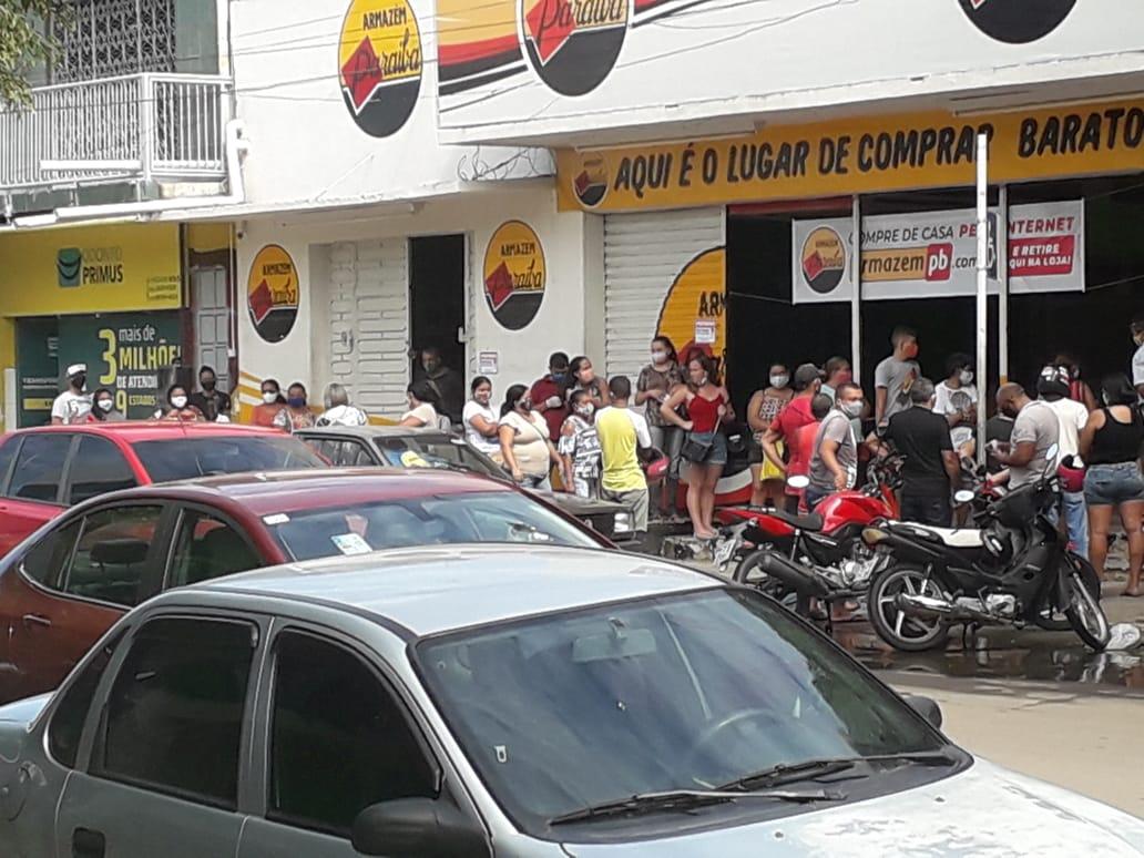 02062020 sousa - FECHOU: Comércio de Sousa, reabre após prefeitura determinar flexibilização, mas sindicato ganha liminar suspendendo a abertura do comércio; CONFIRA