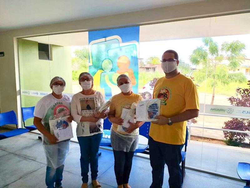 04062020 uirauna - UIRAÚNA: Secretaria municipal de Saúde faz entrega de aventais impermeáveis e máscaras N95 aos profissionais da atenção básica