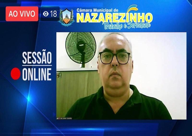 05062020 jader - Vereador apresenta projeto que visa doação de recursos da câmara de Nazarezinho à administração municipal em prol do combate ao coronavírus