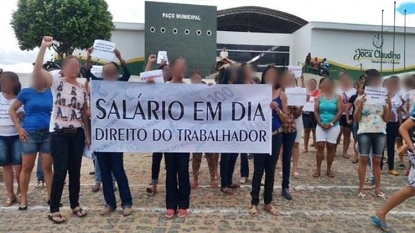 07072019 joca - VÃO PARAR: Servidores da Prefeitura de Joca Claudino entram em greve cobrando salários atrasados