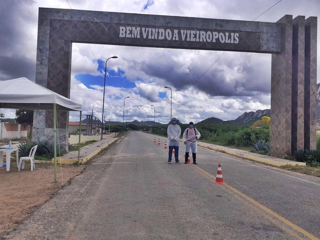 11062020 v1 Easy Resize.com - Prefeitura de Vieirópolis inicia barreira sanitária na entrada de acesso ao município para combater a disseminação do coronavírus; VEJA