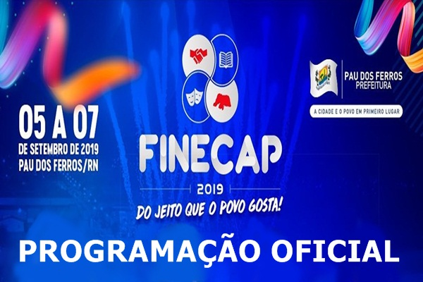 13052019 PROGRAMACAO - Marília Mendonça, Gabriel Diniz, Márcia Fellipe, entre outras atrações estarão na FINECAP 2019; CONFIRA