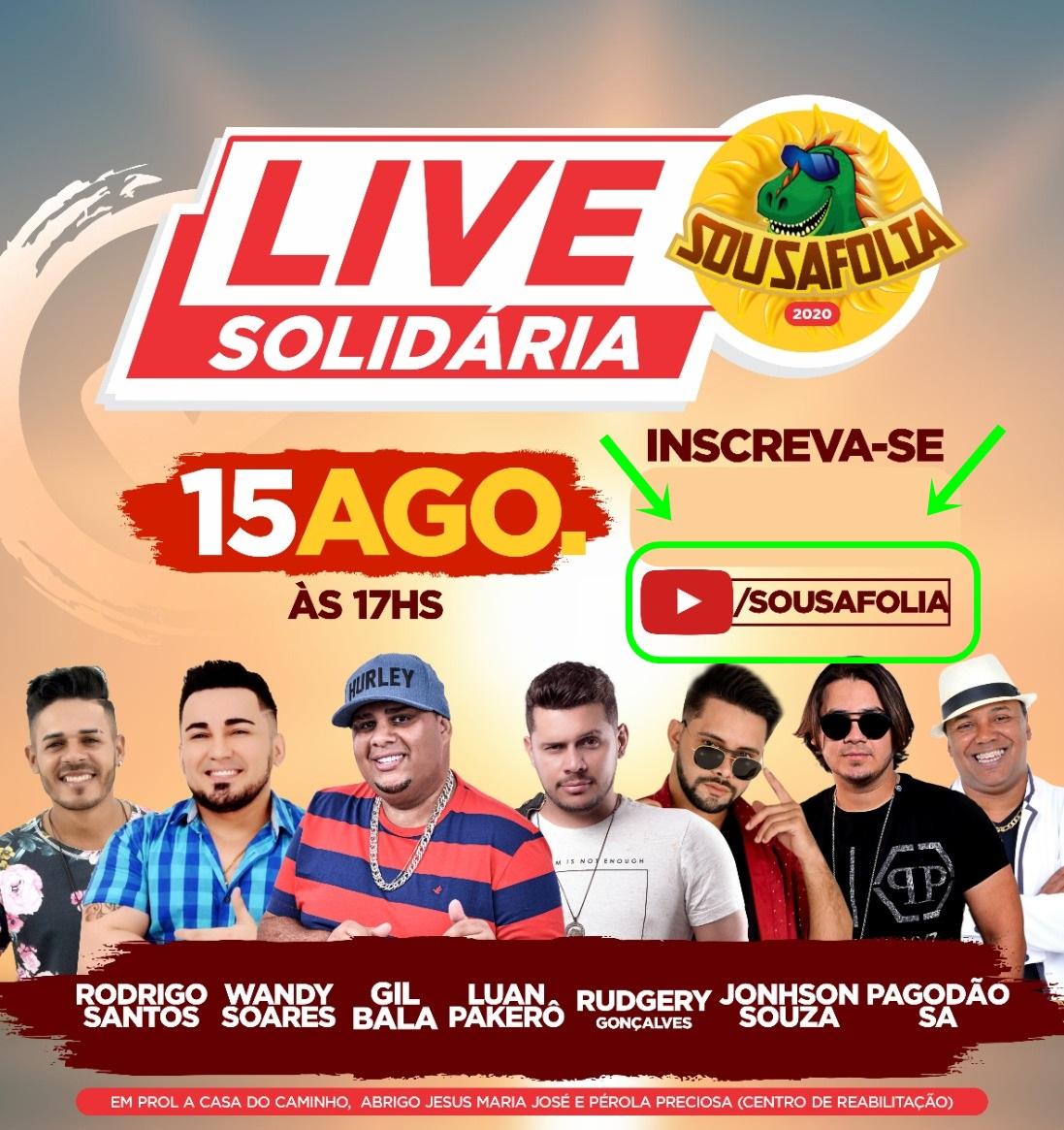 14082020 sousafolia - Empresários preparam ''live solidária'' do Sousa Folia neste sábado (15) para arrecadar recursos para auxílio a instituições da cidade