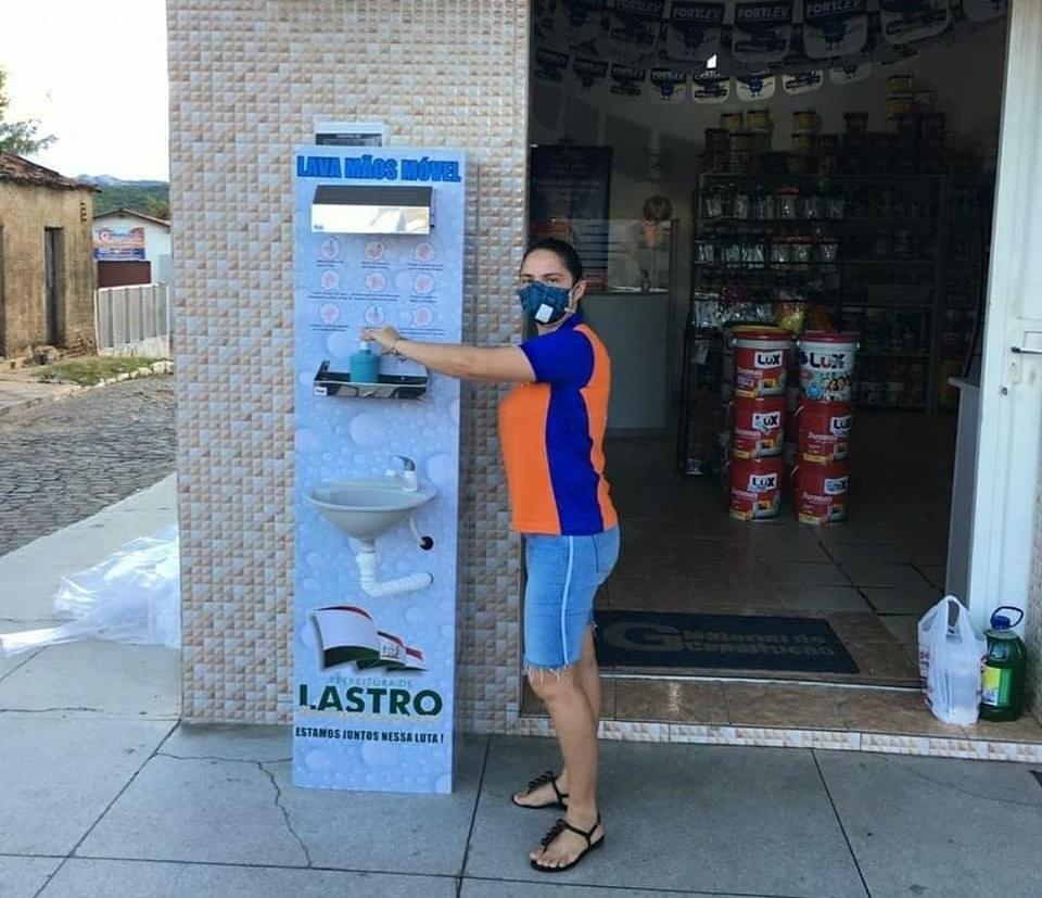 26052020 lastro1 - LASTRO: Prefeitura instala lavatórios em pontos estratégicos no centro da cidade; VEJA.