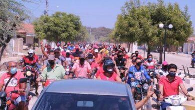 jn3 390x220 - João Neto e Hélio Roque realizam primeira grande carreata da campanha na cidade de Aparecida.