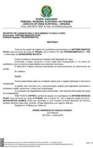 setenca 188x300 - ELEIÇÕES 2020: Justiça Eleitoral defere registros de candidaturas de Marquinhos Gomes e Aurilene Barbosa para prefeito e vice de Bernardino Batista