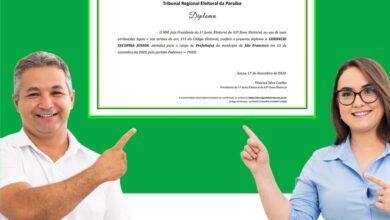 jr diplomaa 390x220 - Gerôncio Júnior é diplomado Prefeito eleito em São Francisco e reafirma compromisso de trabalhar por sua terra.