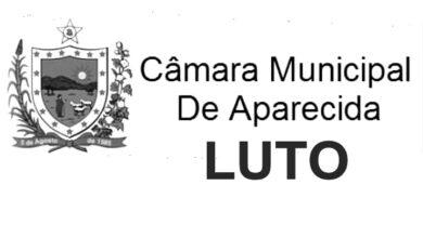 APARECIDA CAMARA LUTO 390x220 - Câmara Municipal de Aparecida emite nota de pesar pelo falecimento do comerciante João Belo de Sousa