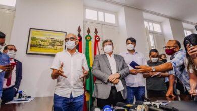 cicero e joao 390x220 - Cícero Lucena recebe o governador João Azevedo e anuncia ações nas áreas de infraestrutura, meio ambiente e saúde