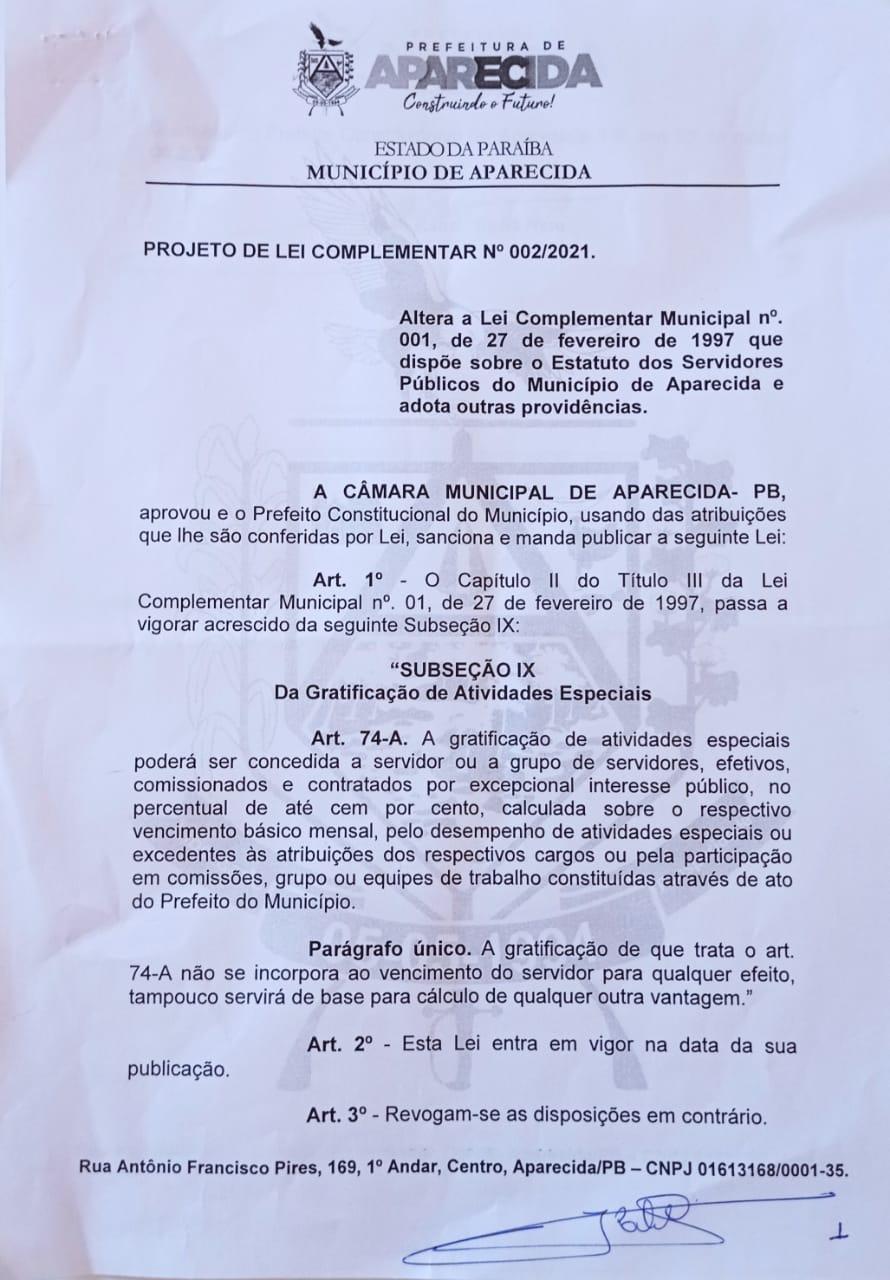 0PL - COVARDIA : Em plena pandemia vereadores de oposição votam contra PL que previa benefícios em gratificações para os servidores da prefeitura de Aparecida.