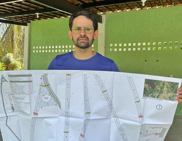 LASTRO PROJETO - LASTRO: Prefeito Dr. Athaíde Diniz anuncia mais investimentos e comemora aprovação de projeto para pavimentação asfáltica que liga o centro da cidade ao bairro Alto da Boa Vista.