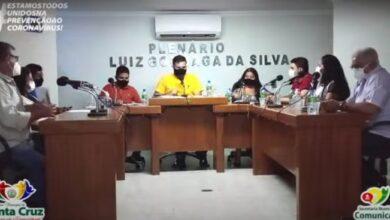 santa cruz camara 390x220 - Câmara aprova projeto que autoriza a compra de vacinas da Covid pela prefeitura de Santa Cruz.