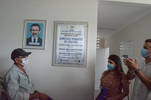 02 - 100 DIAS DE GESTÃO : Prefeito de Triunfo Espedito Filho entrega UBS no distrito de Cajuí
