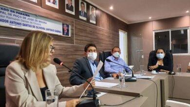 PJDM1 390x220 - Câmara de Poço de José de Moura realiza sessão com presença do Secretário de Saúde, Marcos Gabriel e do Prefeito Paulo Braz.