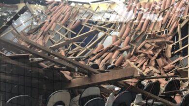 TETO 390x220 - Teto de Câmara Municipal desaba após chuvas em Tenente Ananias-RN