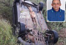 acidente vando 220x150 - Presidente da Câmara de Vieirópolis sofre grave acidente de carro na PB-387