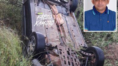 acidente vando 390x220 - Presidente da Câmara de Vieirópolis sofre grave acidente de carro na PB-387