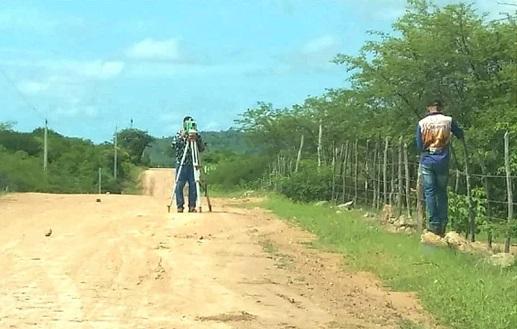 aparecida acaua - BOA : Prefeitura de Aparecida realiza topografia para pavimentação asfáltica no Assentamento Acauã