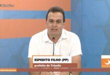 espeditoTV 220x150 - Em TV sertaneja, Espedito Filho faz um balanço de seus primeiros meses de gestão na prefeitura de Triunfo e anuncia seu candidato a deputado estadual; VEJA.