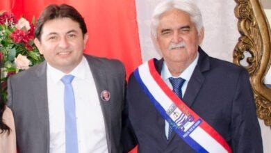 prefeito e secretario 390x220 - Estado aprova ampliação do Samu no município de Poço José de Moura; prefeito e secretário comemoram conquista.