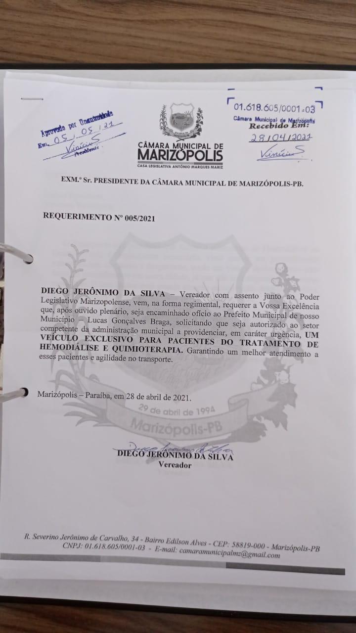 MARIZOPOLIS2 - Câmara Municipal de Marizópolis aprova projetos e requerimentos na sessão desta quarta-feira (05)