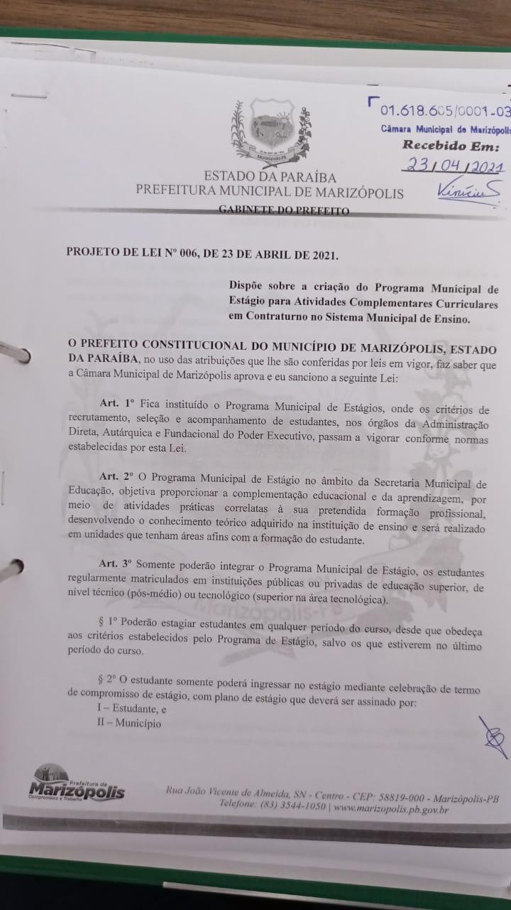 MARIZOPOLIS3 - Câmara Municipal de Marizópolis aprova projetos e requerimentos na sessão desta quarta-feira (05)