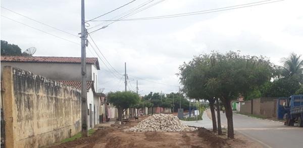 pavimentacao1 - Novas ações: Prefeitura de São João do Rio do Peixe inicia nova etapa de pavimentação em ruas do município