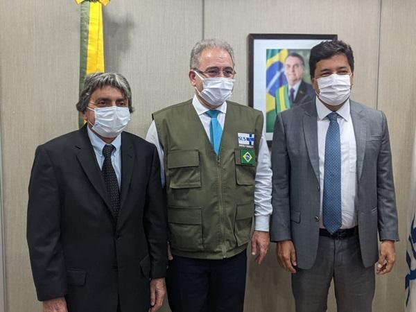 GILVANDRO BSB1 - Prefeito de Belo Jardim cumpre agenda administrativa em Brasília e se reúne com Ministro da Saúde para solicitar recursos para a construção de um novo hospital no município