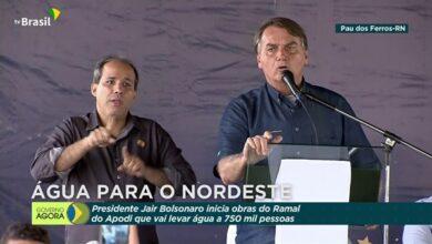 bolsonaro 390x220 - EM PAU DOS FERROS: Presidente Bolsonaro assina ordem de serviço do Ramal Apodi da Transposição do Rio São Francisco.