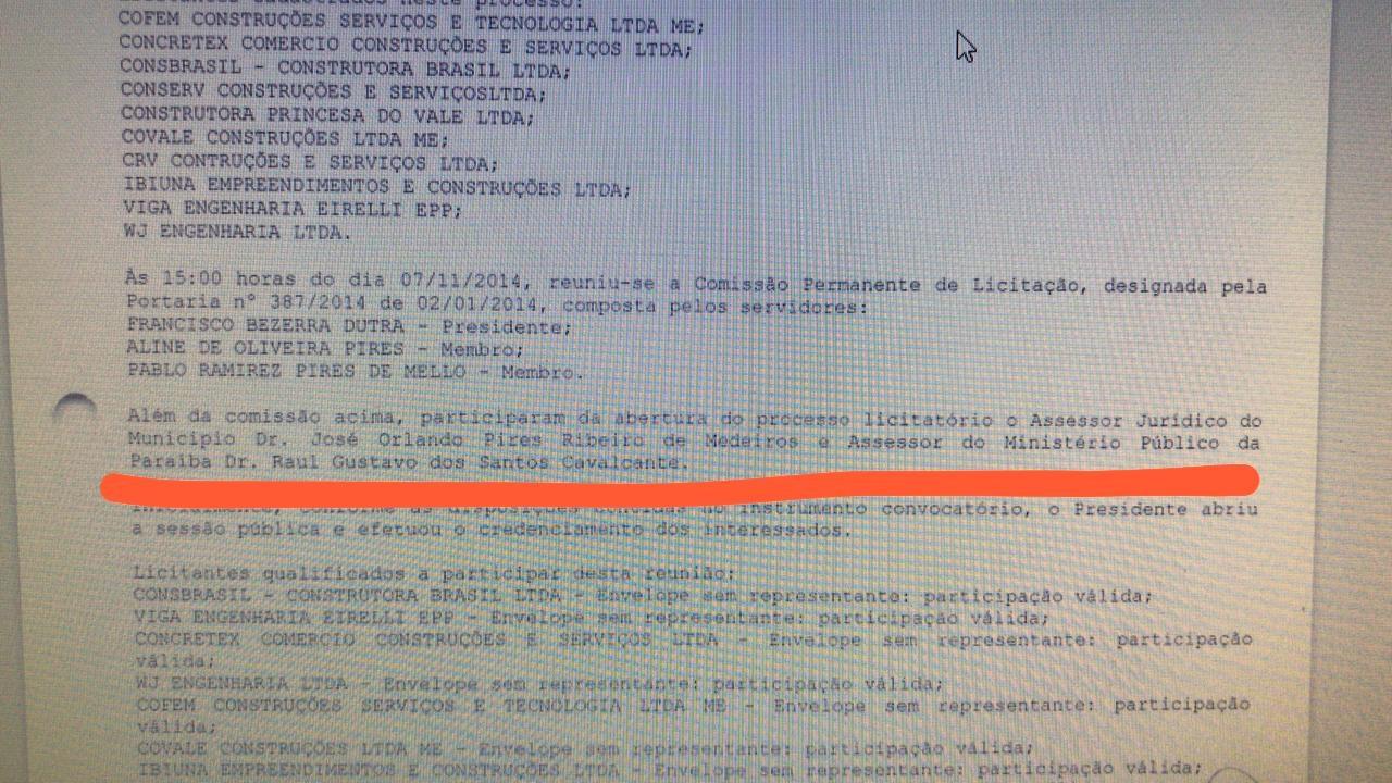 documentosjrp - EM SÃO JOÃO DO RIO DO PEIXE: Ex-prefeito Aírton Pires rebate denúncia de opositores e diz que licitação de adutora teve acompanhamento presencial do Ministério Público.