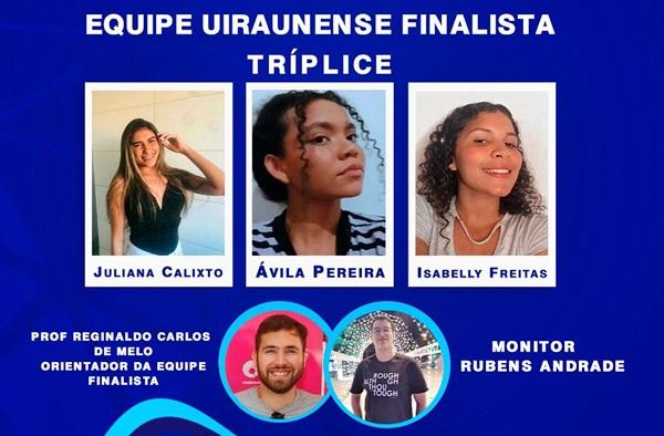 equipe historia - EDUCAÇÃO EM DESTAQUE: Alunos da Rede Pública de Uiraúna são finalistas na Olimpíada Nacional em História do Brasil
