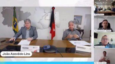 nabor 390x220 - Ao lado do governador, Nabor participa de live para anunciar abertura da rota de voos a partir de Patos