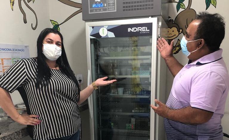 saude 1 768x470 - Secretaria de Saúde de Monte Horebe recebe Câmara Fria para armazenamento de vacinas