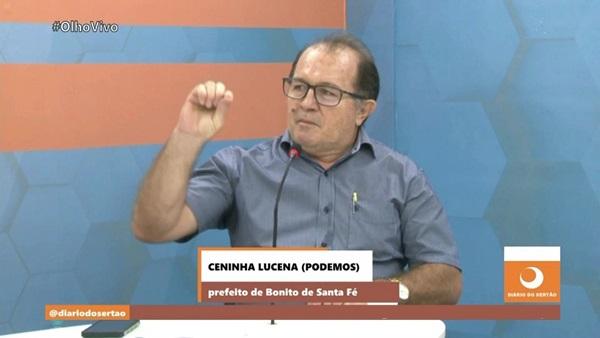 CENINHA TV - BONITO DE SANTA FÉ: Prefeito Ceninha Lucena esclarece Alerta do Tribunal de Contas do Estado; Gestor culpa seus opositores por encharcar a folha; VEJA.