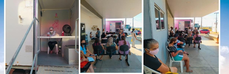 amigos do peito - Secretaria de Saúde e Projeto Amigo do Peito realizam exames no município de Marizópolis