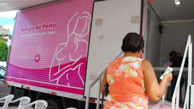 camiao 390x220 - Secretaria de Saúde e Projeto Amigo do Peito realizam exames no município de Marizópolis