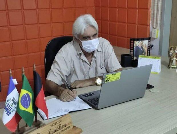 reuniao paulo 620x470 - Poço José de Moura: Prefeito Paulo Braz participa de reunião remota com representantes do SEBRAE e SENAI para discutir parcerias em prol dos micro empreendedores