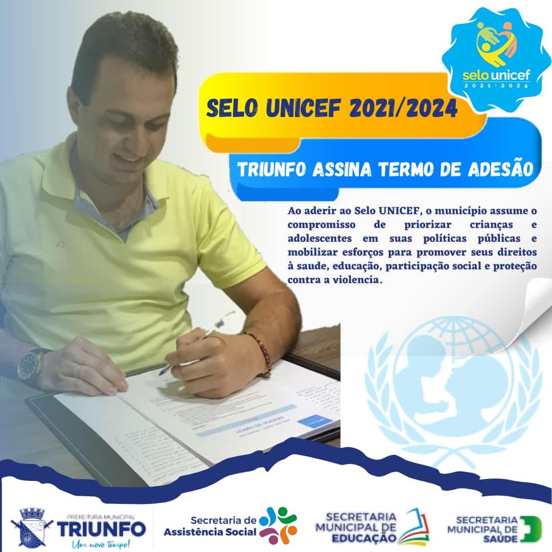 selo - Prefeitura de Triunfo adere ao selo UNICEF e fortalece ações de proteção a crianças e adolescentes