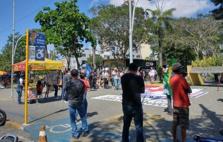 atos 736x470 - Ato da esquerda contra Bolsonaro não tem aglomeração na Paraíba por falta de gente, foi um fiasco